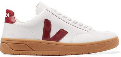 V-12 Leather Sneakers - White
