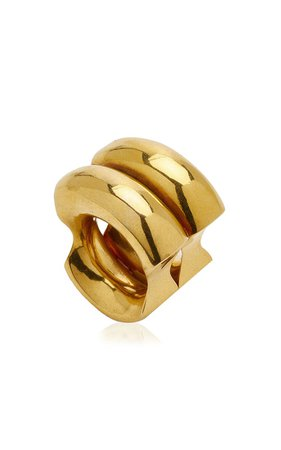 Double 24k Gold-Plated Ring By Paula Mendoza | Moda Operandi