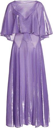 Paco Rabanne Draped Lurex Dress