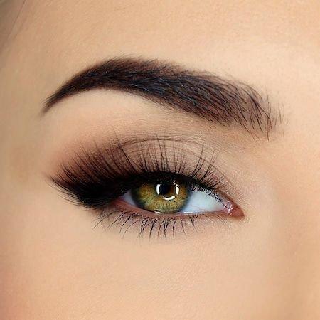 Natural/Nude Eyes w/ Black Eyeliner