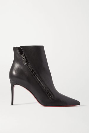 Black Birgikate 85 leather ankle boots | Christian Louboutin | NET-A-PORTER