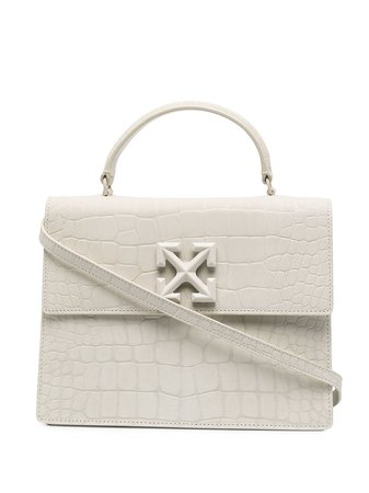 Shop white Off-White 2.8 Jitney tote bag with Express Delivery - Farfetch