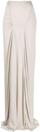 Ruched Detail High-Waisted Fitted Skirt
