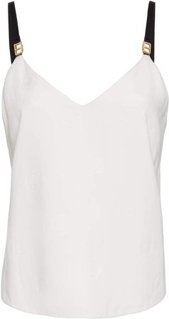 Embroidered Branded Crepe Tank