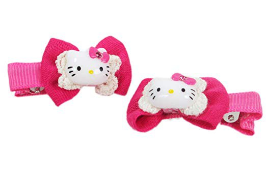 Amazon.com: Hot Pink Hello Kitty Hair Clips (2 Pack) - Hello Kitty Hair Accessories: Health & Personal Care