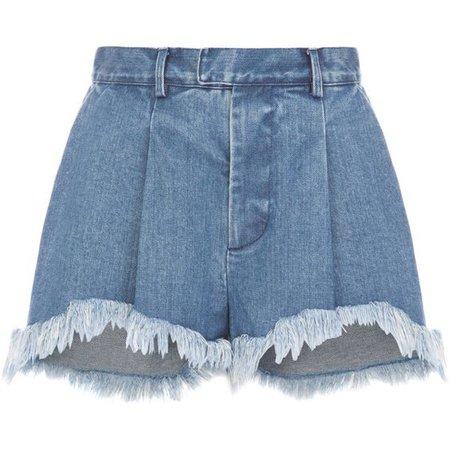 Ksenia Schnaider Fringe Denim Shorts ($275)