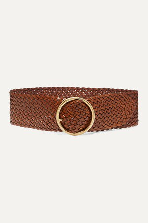 Anderson's | Woven leather belt | NET-A-PORTER.COM
