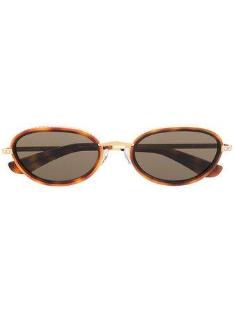 Linda Farrow round-frame Tortoiseshell Sunglasses - Farfetch