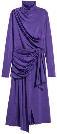Draped Dress - Purple