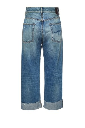 R13 - Crossover Distressed Jeans - blue