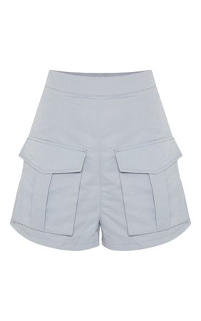 Baby Blue Military Style Pocket Front Short   PrettyLittleThing USA