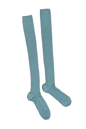 Baserange - Temporary Blue Over The Knee Socks   BONA DRAG