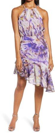 Jodie Asymmetrical Ruffle Hem Dress