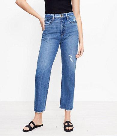 The 90s Straight Jean in Authentic Indigo Wash
