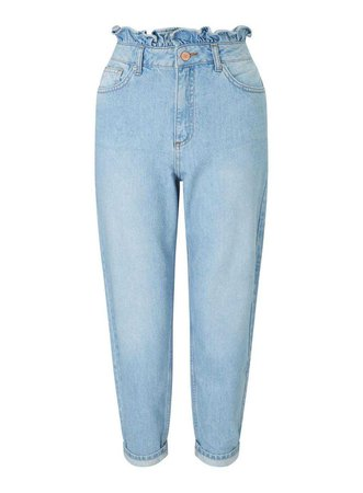 PETITE MOM High Waist Skinny Light Blue Frill Top Jeans - Petite Jeans & Denim - Petite - Miss Selfridge US