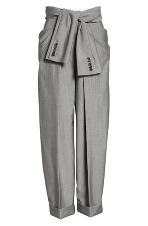Alexander Wang Tie Waist Tapered Trousers | Nordstrom