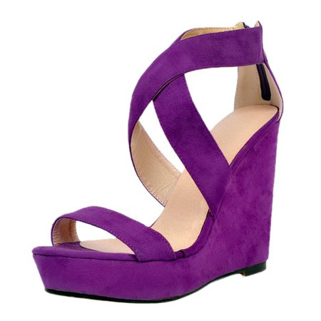 Purple Wedge Heels Women Sandal Open Toe Platform High Heels New Arrival Adult Jelly Shoes Sandalias Mujer 2016 Fashions Wedge-in High Heels from Shoes on Aliexpress.com | Alibaba Group