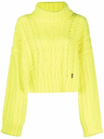 Balmain Cropped cable-knit Jumper - Farfetch