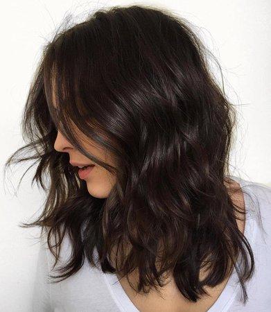 black wavy hair