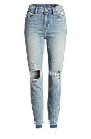 BLANKNYC The Bond Ripped High Waist Skinny Jeans (Beach View) | Nordstrom
