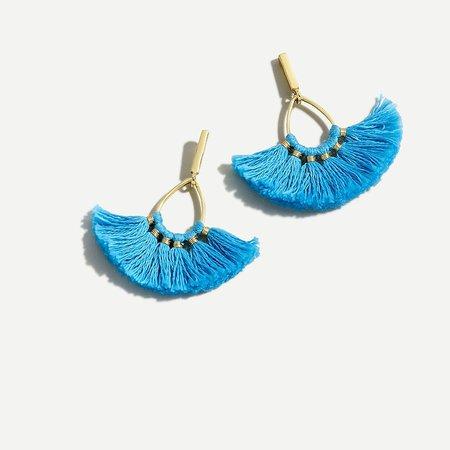 J.Crew: Tassel Fan Earrings For Women blue