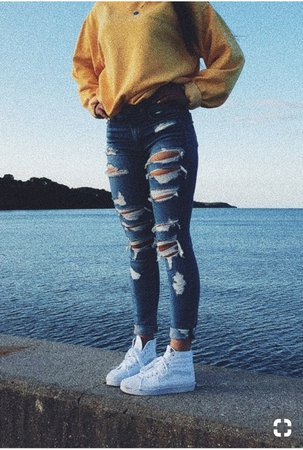 american eagle ripped jeans - Google Search