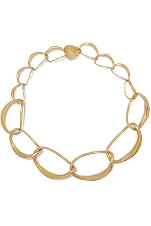 Dinosaur Designs | Liquid Chain gold-plated necklace | NET-A-PORTER.COM