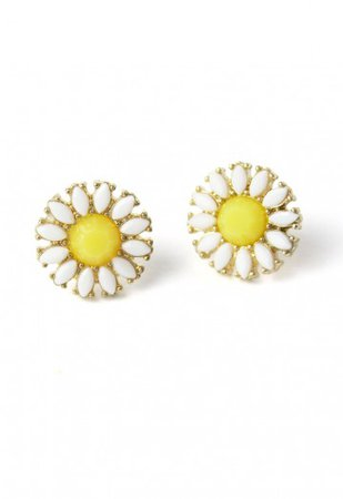 Cheerful Daisy Beads Stud Earrings - Earrings - ACCESSORY - Retro, Indie and Unique Fashion