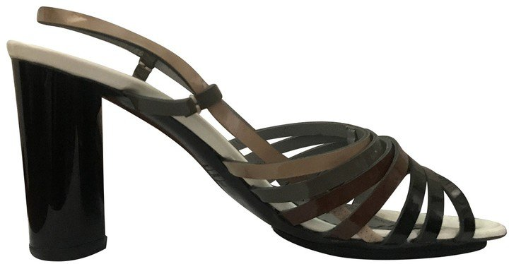 Anthracite Leather Sandals