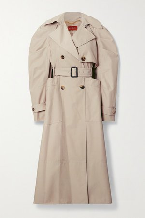 Ambretta Belted Double-breasted Cotton-blend Trench Coat - Beige