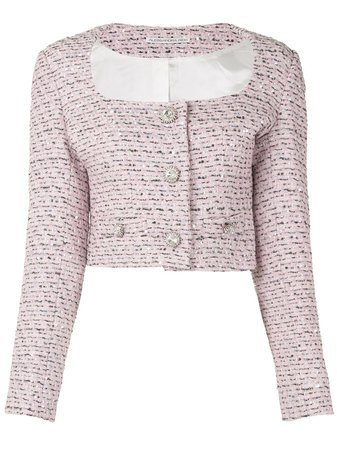 Alessandra Rich Embroidered Fitted Jacket - Farfetch