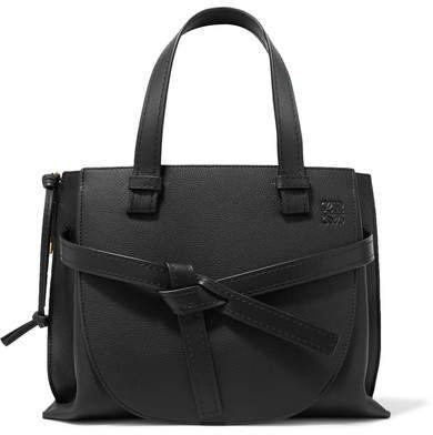 Gate Small Textured-leather Shoulder Bag - Black