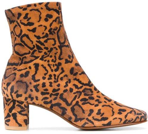 Sofia leopard-print ankle boots