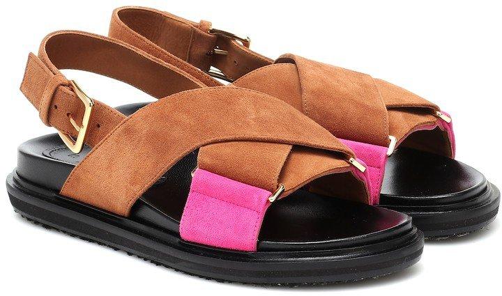 Fussbett suede sandals