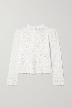 White Venice crocheted cotton top   Sea   NET-A-PORTER