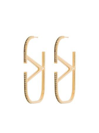 Valentino Garavani VLogo Signature Hoop Earrings - Farfetch