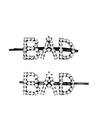 Metallic Ashley Williams Crystal Bad Hair Slides | Farfetch.com