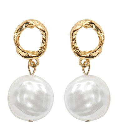 Gold Mini Pearl Earrings