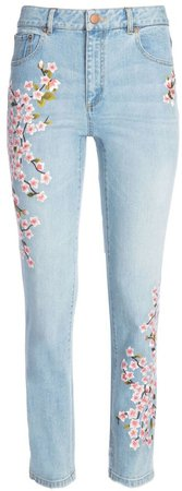 Amazing Embroidered High Rise Jean
