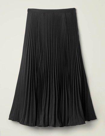 Kristen Pleated Skirt - Black