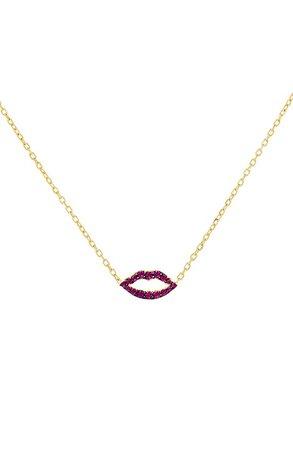 Adina's Jewels Lips Pendant Necklace | Nordstrom