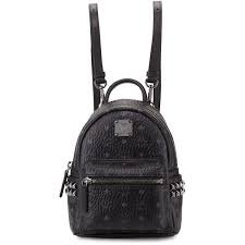 Mini Black MCM Backpack