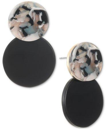 Alfani Gold-Tone Helio Stone Drop Earrings, Created for Macy's & Reviews - Earrings - Jewelry & Watches - Macy's