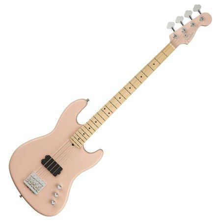 DISC Fender Flea Jazz Bass Active MN, Satin Shell Pink at Gear4music