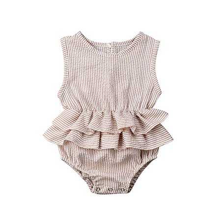 Amazon.com: Baby Girls Clothes Ruffles Collar Romper Bodysuit Jumpsuit Outfits Summer Clothes for Infant Toddler Girl (Pink#2, 6-12 Months): Clothing