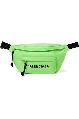 Balenciaga | Wheel neon embroidered canvas belt bag | NET-A-PORTER.COM