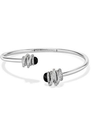 de GRISOGONO   Bracelet en or blanc 18 carats, diamants et onyx Toi & Moi   NET-A-PORTER.COM