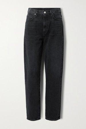 Net Sustain The Peg High-rise Straight-leg Jeans - Black
