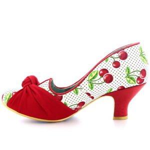 Womens Irregular Choice Dazzle Pants Cherry Kitten Heel Court Shoes UK 3.5-8.5 | eBay