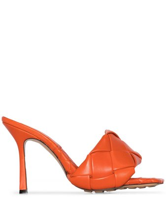 Orange Bottega Veneta BV Lido Intrecciato sandals - Farfetch